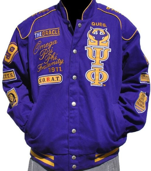Omega Psi Phi Jacket Nascar Style It S A Black Thang Com