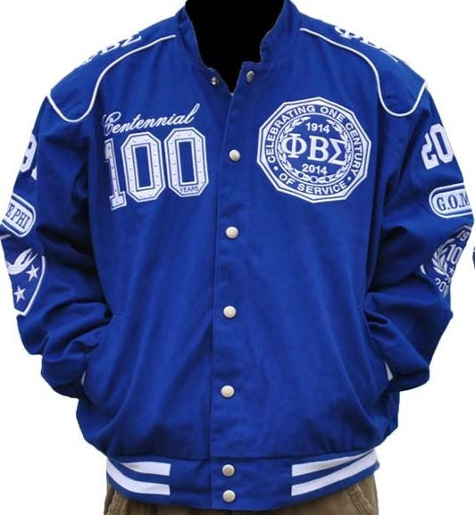 Phi Beta Sigma jacket - centennial - blue