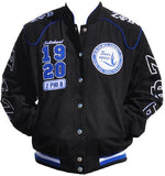 Zeta Phi Beta jacket - racing style - black