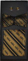 Alpha Phi Alpha bow tie - cuff links set - gold