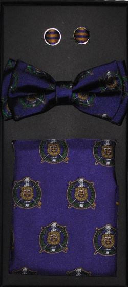 Omega Psi Phi bow tie - cuff links set
