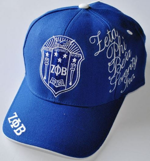 Zeta Phi Beta - signature cap - blue