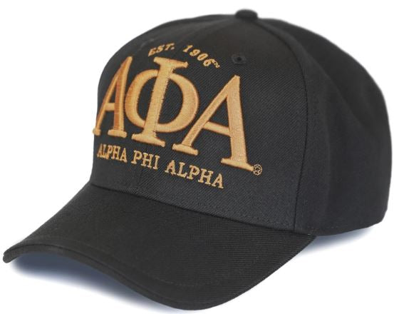 Alpha Phi Alpha cap - baseball - with letters