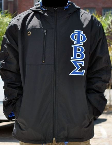 Phi Beta Sigma - windbreaker - black