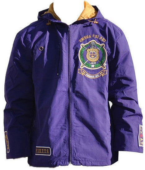 Omega Psi Phi jacket - windbreaker - purple-2