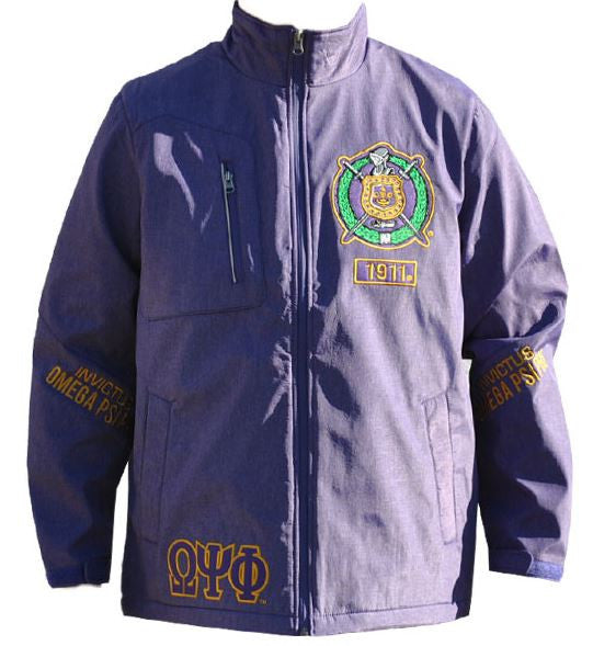 Omega Psi Phi jacket - windbreaker - purple - GWBD