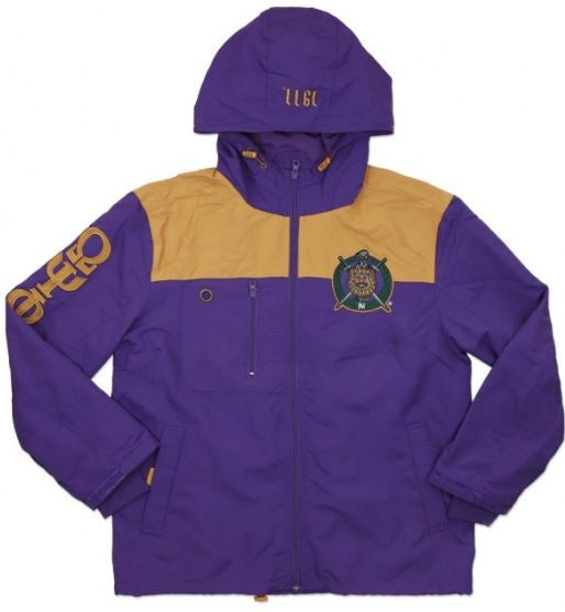Omega Psi Phi jacket - windbreaker - purple - GWBF