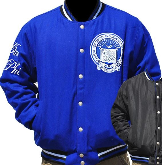 Phi Beta Sigma - reversible wool jacket