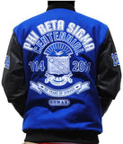Phi Beta Sigma jacket - centennial black sleeves