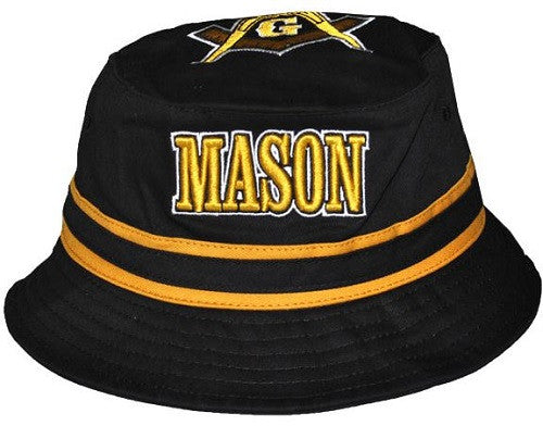 Prince Hall Mason cap - bucket style - black