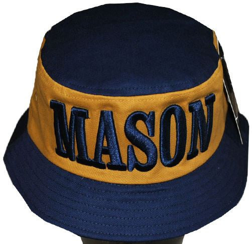 Mason cap - bucket style - navy and gold