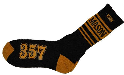 Mason socks - black and gold