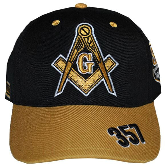 Prince Hall Mason cap - baseball - with gold bib