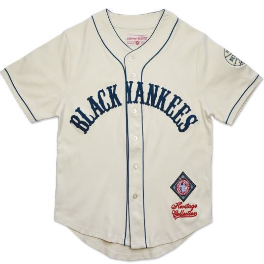 New York Black Yankees - heritage jersey - ivory – It s A Black ... 5f4abbef522