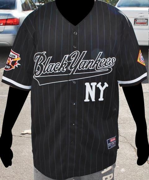 New York Black Yankees Negro League Jersey Black It