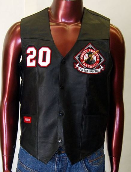 Negro League leather vest