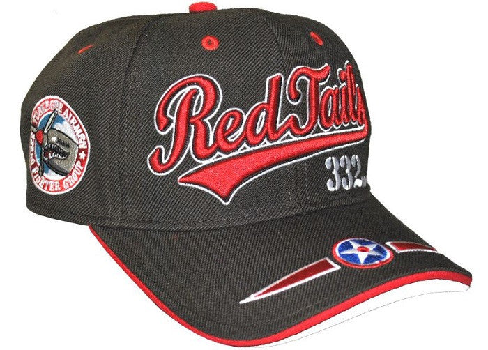 Tuskegee Airmen cap - Red Tails - 332 - BRN