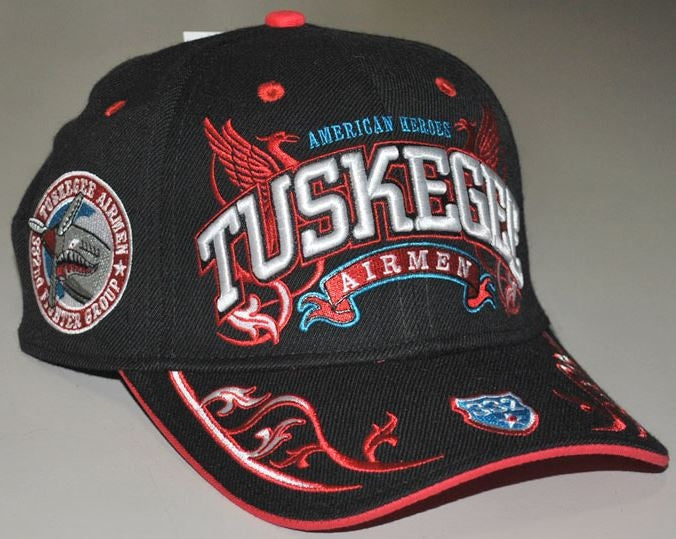Tuskegee Airmen - wings cap - black
