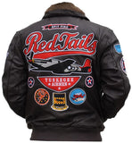 Tuskegee Airmen - leather bomber jacket - TLJC