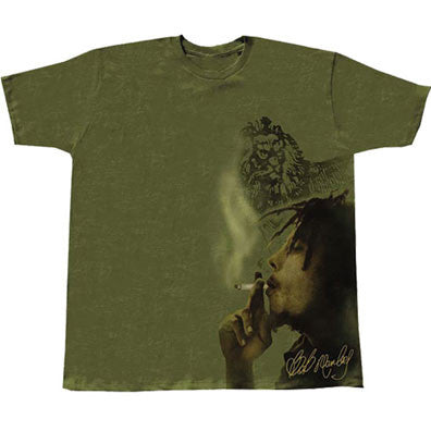 Bob Marley t-shirt - Smoke Side