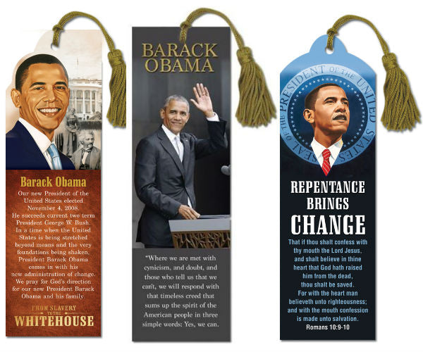 Barack Obama bookmarks - set of 3