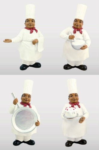 Black Chef figurines - set of 4