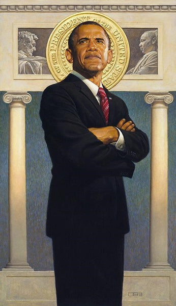President Obama 35x21 Limited Edition Print Thomas