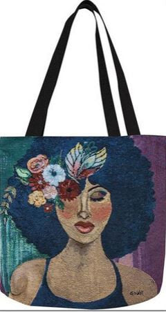 Blue Ivory - Gbaby Designs - totebag