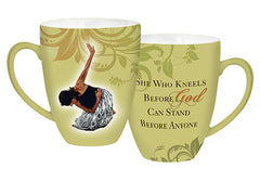 She Who Kneels - green mug - AAE-CHMUG-22