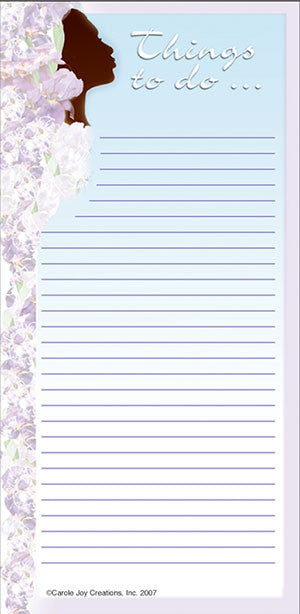 Magnetic Notepad - things to do - silhouette