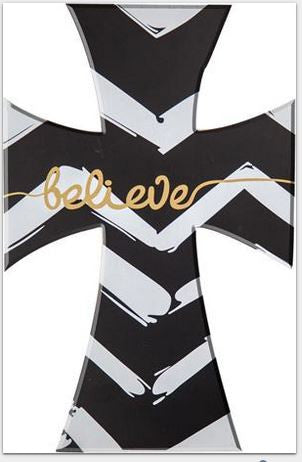 Chevron Believe - Wall Cross