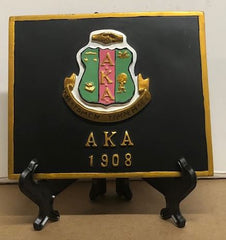 Alpha Kappa Alpha - shield plaque 4x5 with stand