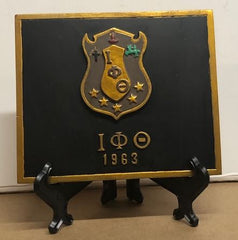 Iota Phi Theta - shield plaque 4x5 with stand