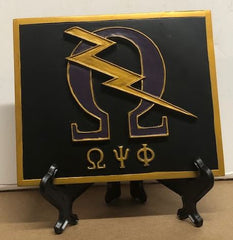 Omega Psi Phi - Q-Bolt plaque 4x5