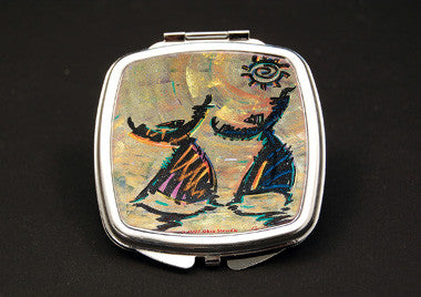 Give Thanks - dual mirror compact