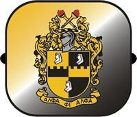 Alpha Phi Alpha car shade - side window