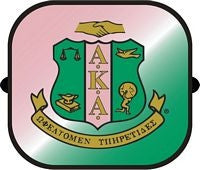 Alpha Kappa Alpha car shade - side window