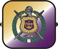 Omega Psi Phi car shade - side window