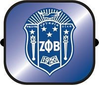Zeta Phi Beta - side window car shade