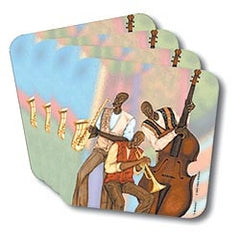 Three Musicians - coasters - set of 4