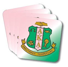 Alpha Kappa Alpha coasters - set of 4