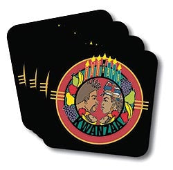 Kwanzaa - coasters - set of 4