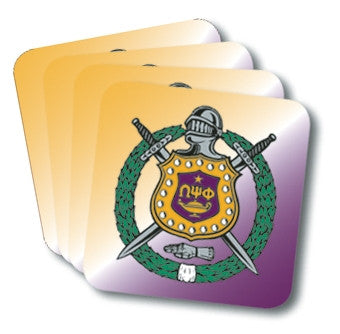 Omega Psi Phi coasters - set of 4