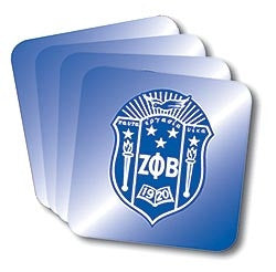 Zeta Phi Beta coasters - set of 4