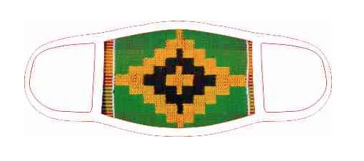 Face Mask - Kente Diamond