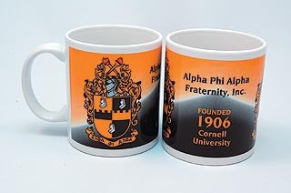 Alpha Phi Alpha mug - crest and founded date