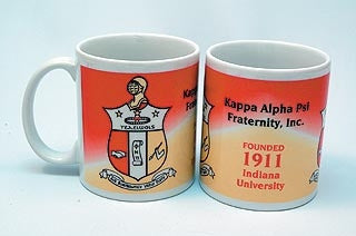 Kappa Alpha Psi mug - crest and founded date