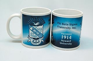 Phi Beta Sigma mug - crest and founded date