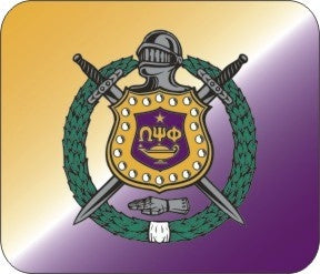 Omega Psi Phi mouse pad - shield