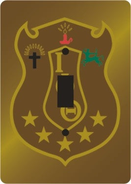Iota Phi Theta light switch cover - single